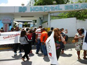 Em 2016, o SEEB promoveu manifestações e assembleias cobrando uma posição sobre o futuro do HE. (Foto: SEEB)